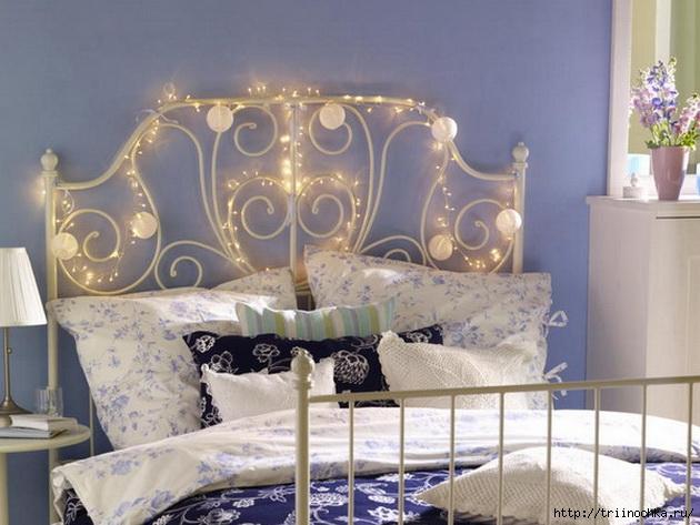 Красивое изголовье кровати!