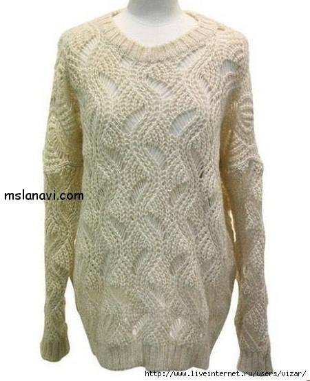 Женский-свитер-спицами (450x553, 148Kb)