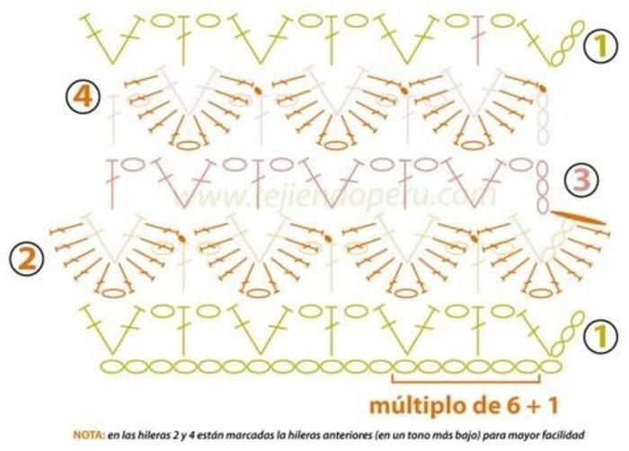 вышивка вязаной детской одежды