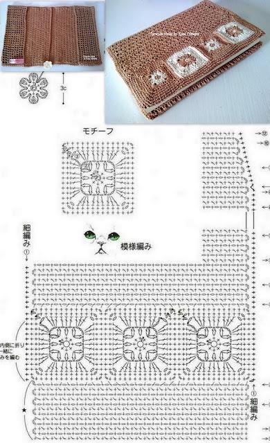 Вязание крючком. Замечательные салфетки и сумочка. Схемы (36) (390x640, 233Kb)