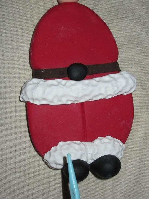 Дед Мороз из холодного фарфора. Фото мастер-класс (6) (525x700, 253Kb)