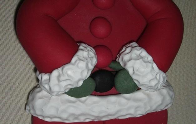 Дед Мороз из холодного фарфора. Фото мастер-класс (16) (628x397, 147Kb)