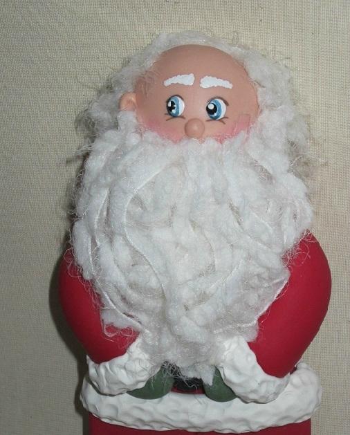 Дед Мороз из холодного фарфора. Фото мастер-класс (18) (506x629, 241Kb)