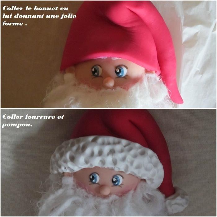 Дед Мороз из холодного фарфора. Фото мастер-класс (20) (700x700, 280Kb)