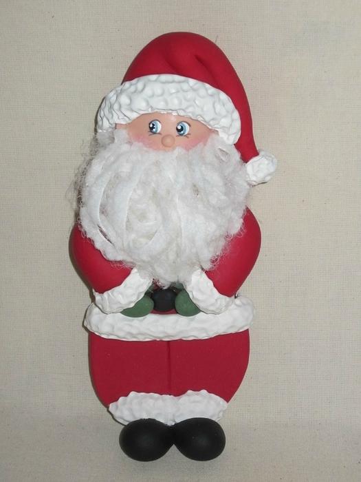 Дед Мороз из холодного фарфора. Фото мастер-класс (22) (525x700, 232Kb)