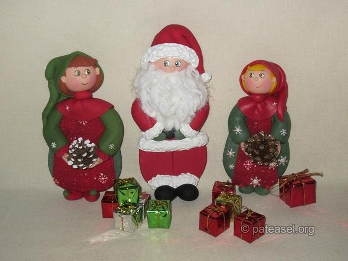 Дед Мороз из холодного фарфора. Фото мастер-класс (24) (700x525, 237Kb)