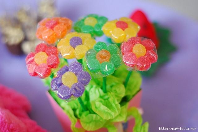 Цветы из мармеладок для конфетных букетов (1) (640x428, 168Kb)