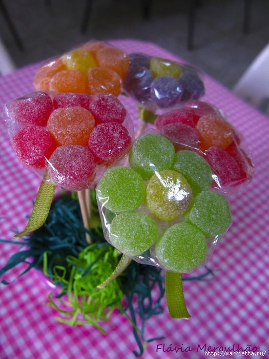 Цветы из мармеладок для конфетных букетов (3) (525x700, 292Kb)