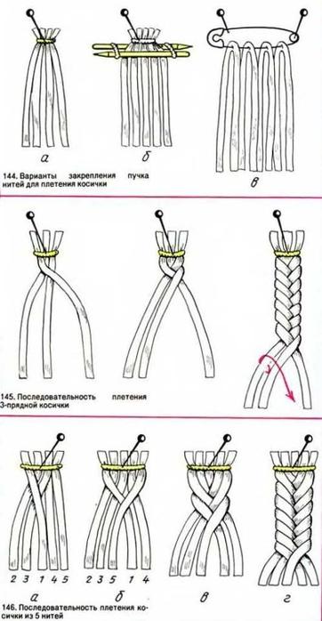 Подборка схем для плетения