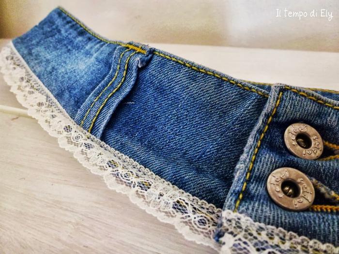 Украшения из старых джинсов