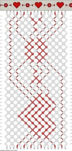 Схемы фенечек прямым плетением: схемы плетения 58