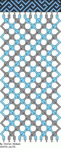 Схемы фенечек прямым плетением: схемы плетения 4