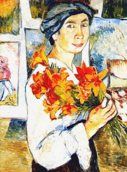 Наталия Гончарова. Автопортрет с желтыми лилиями, 1907 год/3241858_goncharova (515x700, 257Kb)