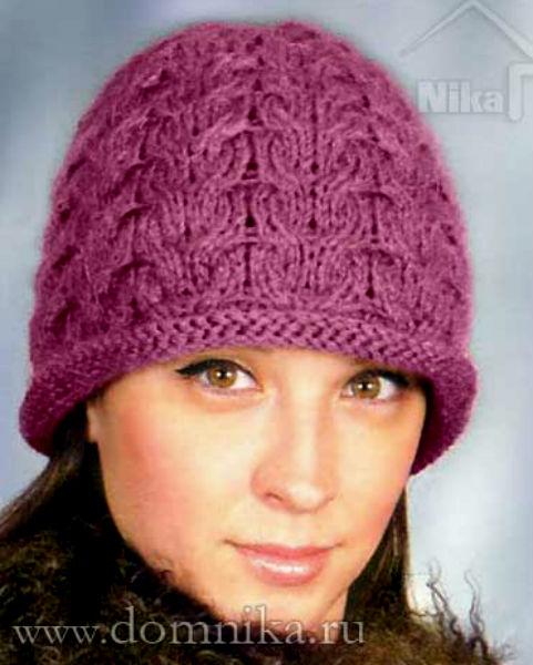 Женские теплые шапки связать