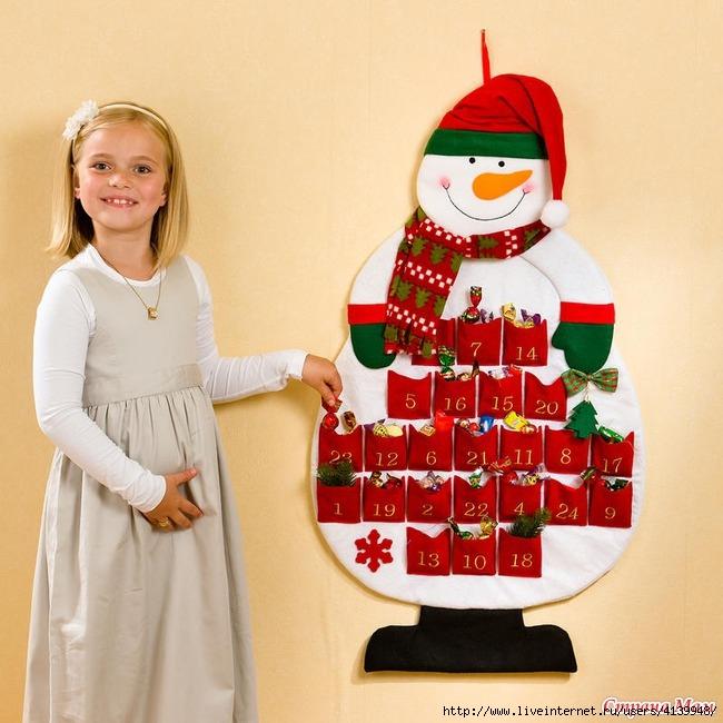Картинки по запросу календарь ожидания нового года снеговик