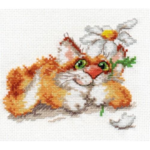 Вышивка крестом коты алиса