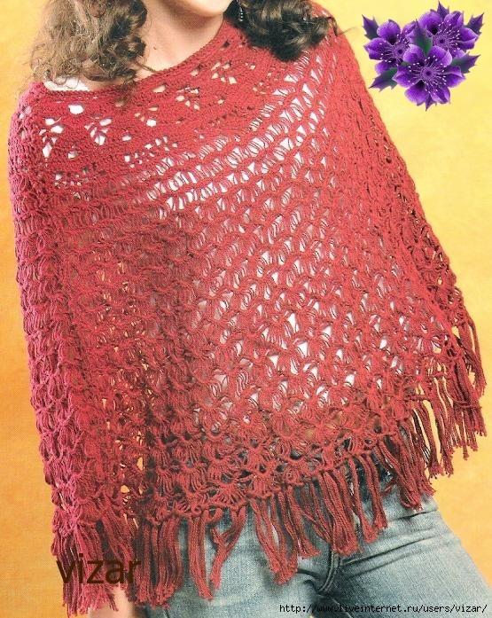 Pelerine Vinho - Croche - PRose Crochet (555x697, 348Kb)