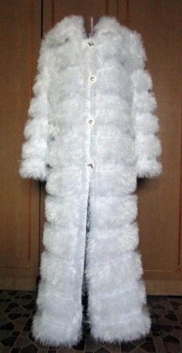 Вязание Пальто Спицами Пряжа