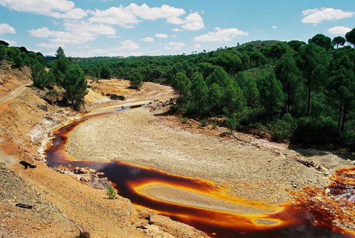 Ржавая река река рио тинто