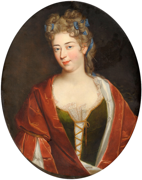 Копия Portraitist 18. Jhdt. Portrait einer Edeldame mit blauem Haarband (552x700, 525Kb)