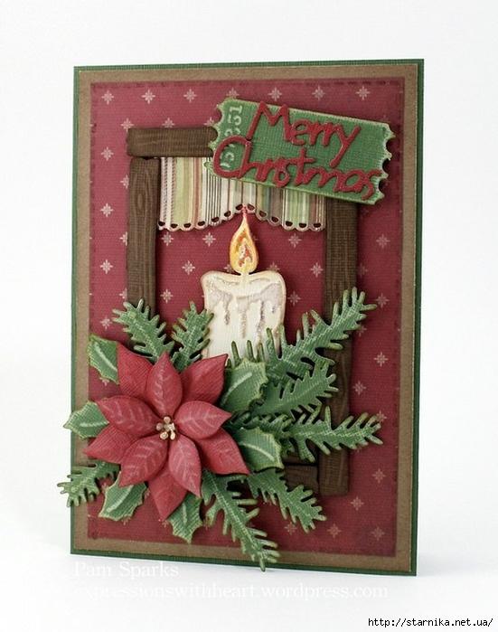 Рождественские открытки своими руками фото