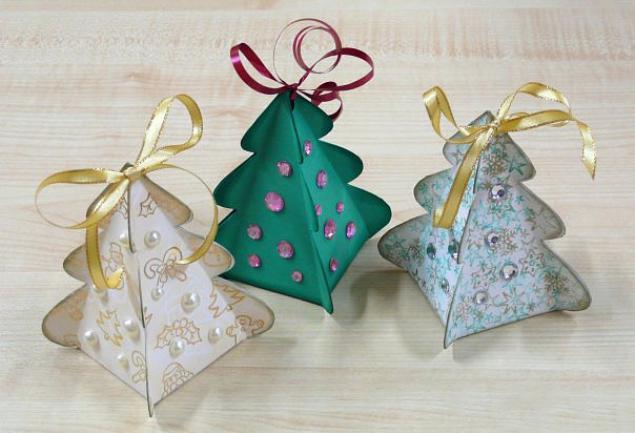 Новогодние игрушки елочки своими руками