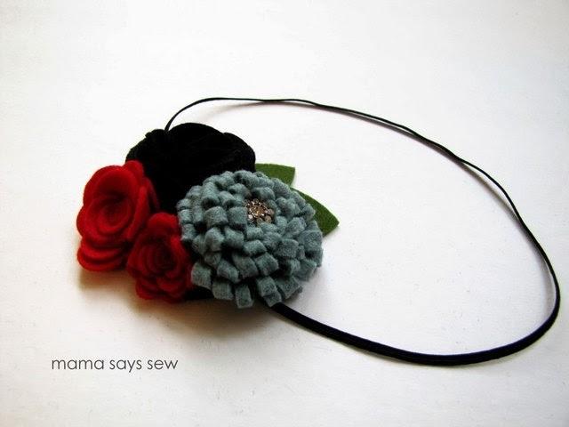 Цветы из фетра - украшение для волос маленькой принцессы (17) (640x480, 93Kb)
