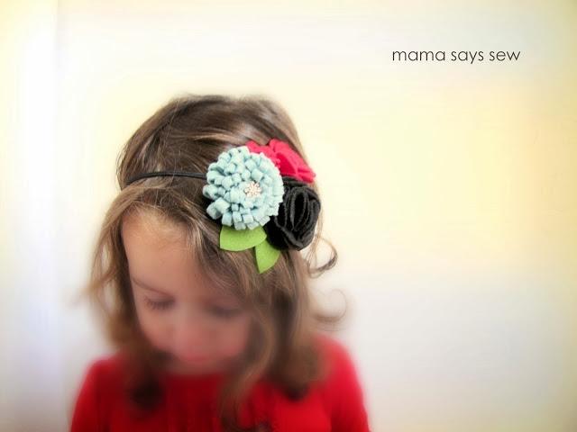 Цветы из фетра - украшение для волос маленькой принцессы (18) (640x480, 102Kb)