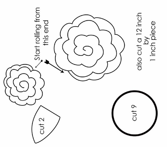 Розы из фетра своими руками схемы шаблоны 27