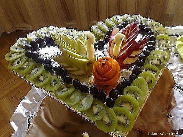 блюда украшения фрукты (600x450, 244Kb)