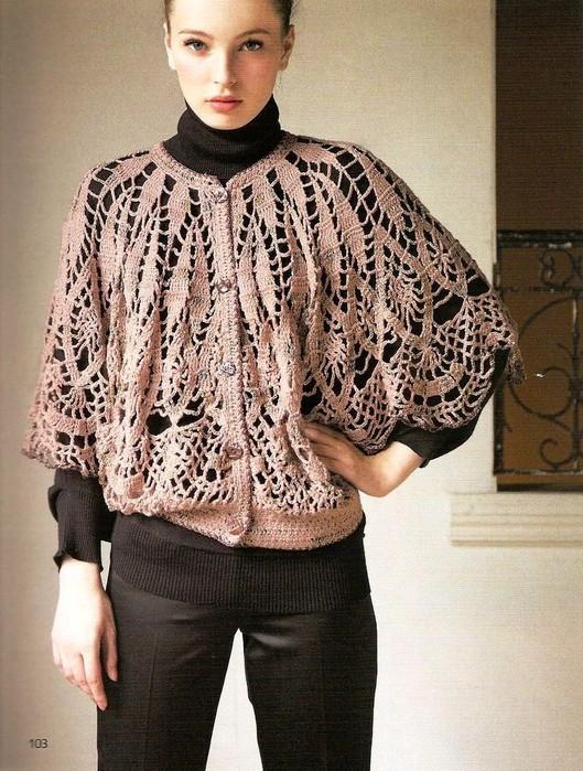 Вязаные блузы и схемы