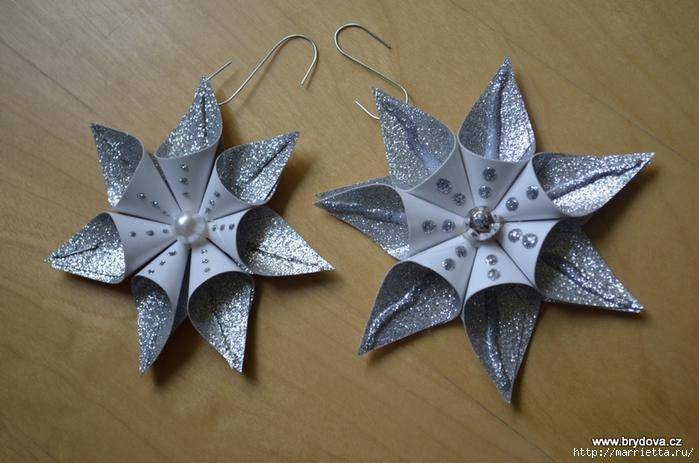 Рождественские звездочки из бумаги. Подвески для елочки (1) (700x463, 245Kb)