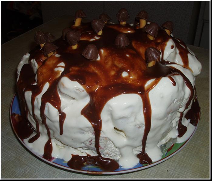 новогодний торт трухлявый пень