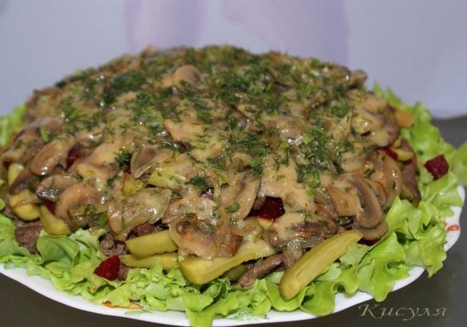 Сочный пряный салат с говядиной и грибами (10) (655x459, 169Kb)