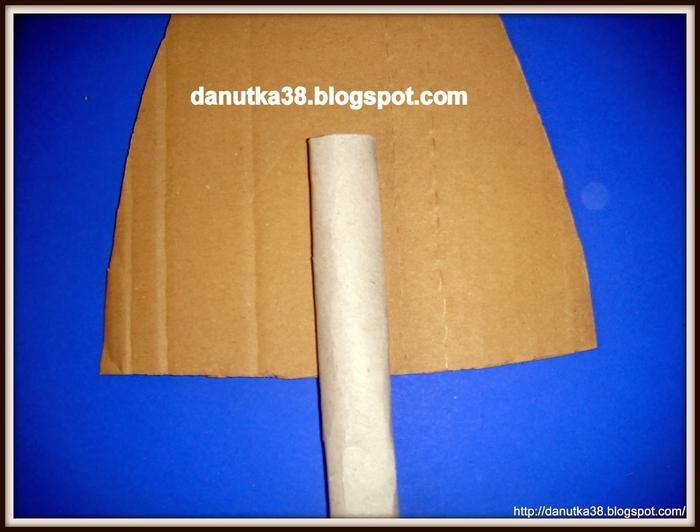 Елочка из картона и гофрированной бумаги. Мастер-класс (3) (700x532, 207Kb)