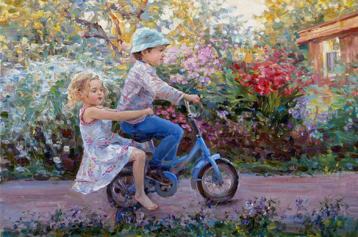 сальникова елена на велосипеде (700x463, 216Kb)