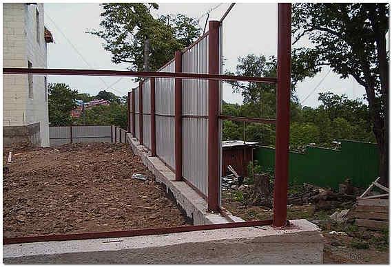 Забор с фундаментом своими руками