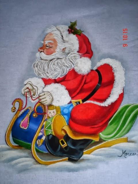 Рождественская роспись по ткани. Санта Клаус, снеговики (1) (480x640, 176Kb)