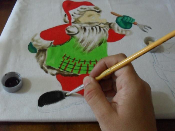 Рождественская роспись по ткани. Санта Клаус, снеговики (33) (700x525, 213Kb)