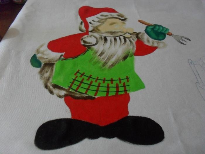 Рождественская роспись по ткани. Санта Клаус, снеговики (34) (700x525, 220Kb)