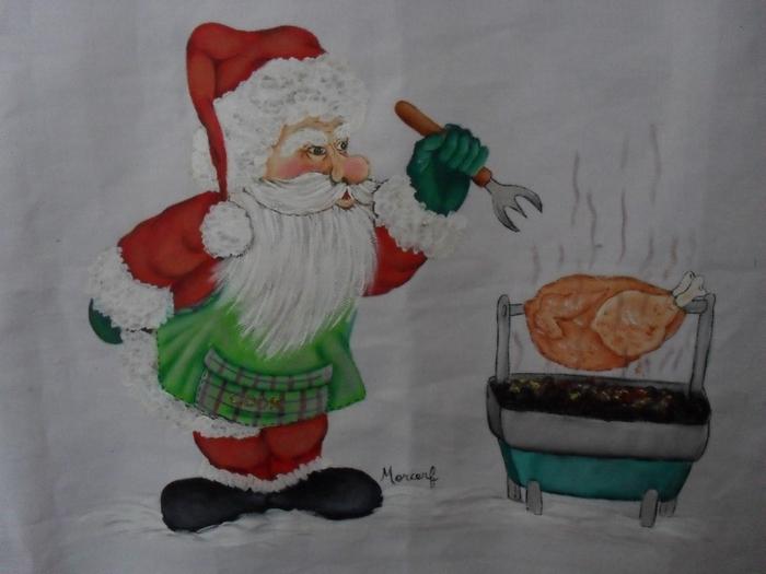 Рождественская роспись по ткани. Санта Клаус, снеговики (40) (700x525, 209Kb)