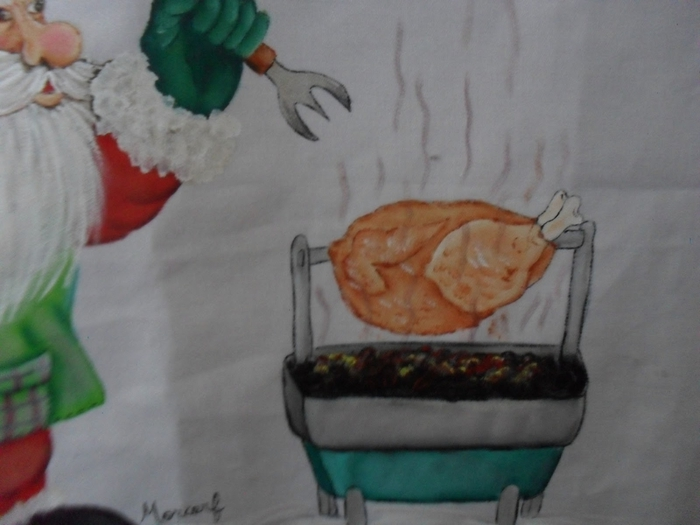 Рождественская роспись по ткани. Санта Клаус, снеговики (42) (700x525, 190Kb)