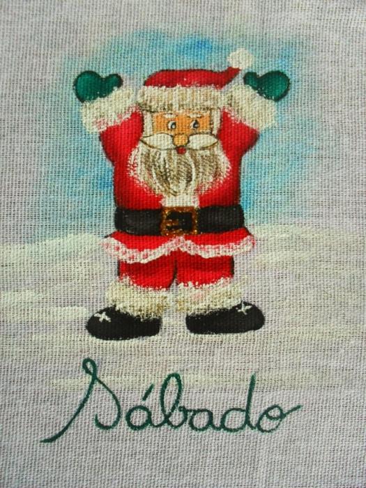 Рождественская роспись по ткани. Санта Клаус, снеговики (64) (525x700, 355Kb)