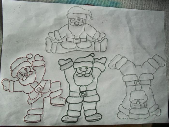 Рождественская роспись по ткани. Санта Клаус, снеговики (66) (700x525, 249Kb)
