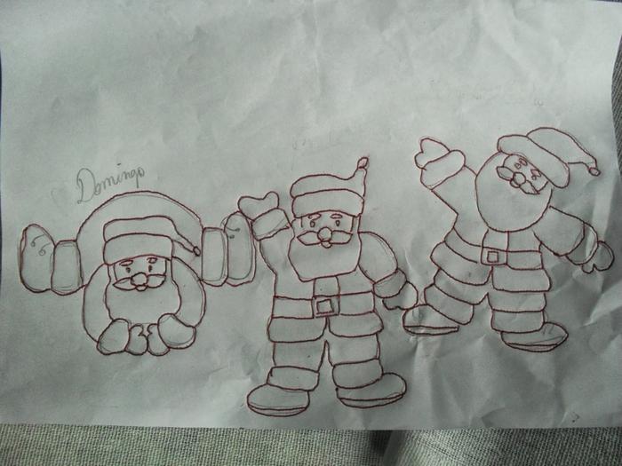 Рождественская роспись по ткани. Санта Клаус, снеговики (67) (700x525, 249Kb)