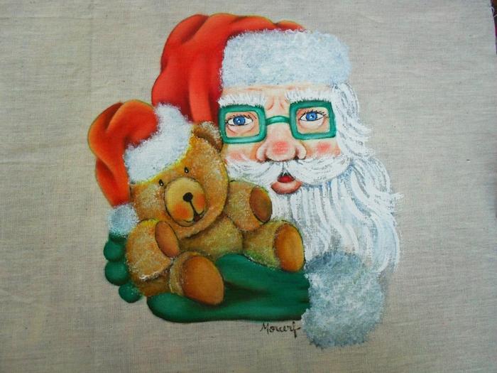 Рождественская роспись по ткани. Санта Клаус, снеговики (71) (700x525, 290Kb)