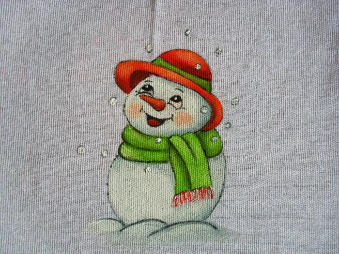 Рождественская роспись по ткани. Санта Клаус, снеговики (78) (700x525, 360Kb)