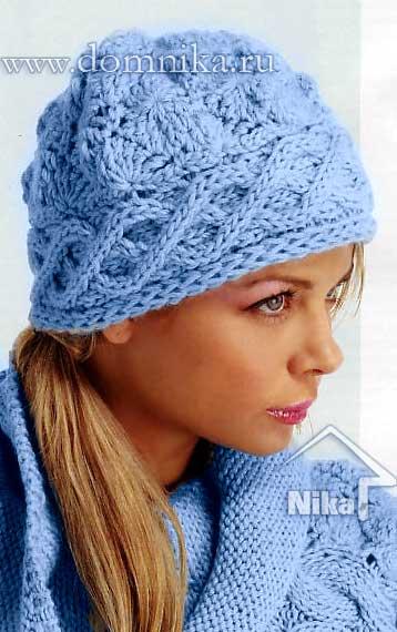 тему схема вязания шапки