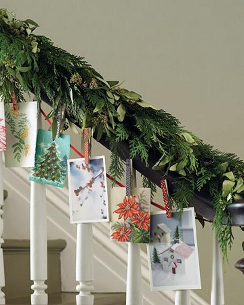 Дизайн интерьера. Потрясающие идеи украшения лестниц к Рождеству (39) (480x600, 166Kb)