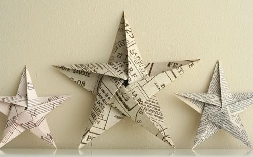 звезда в технике оригами к Новому году. МК